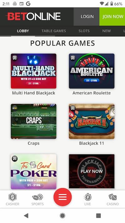 BetOnline Casino App