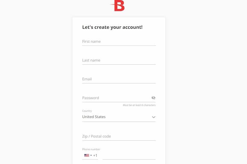 BetOnline Create Account