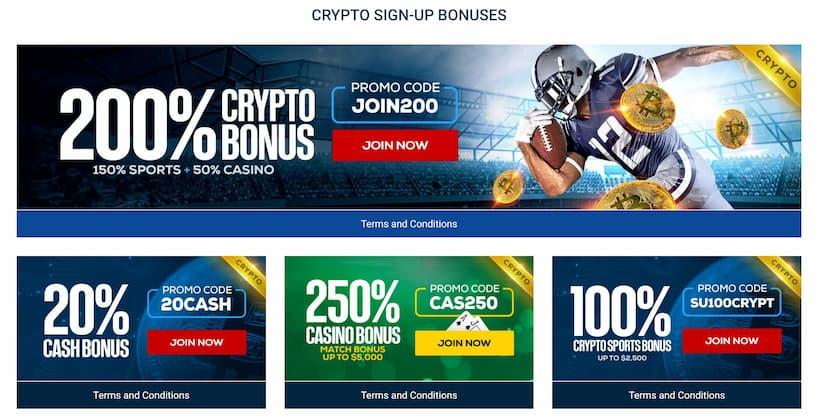 BetUS Crypto Bonuses