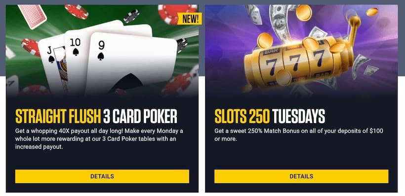 BetUS Daily Casino Promotions