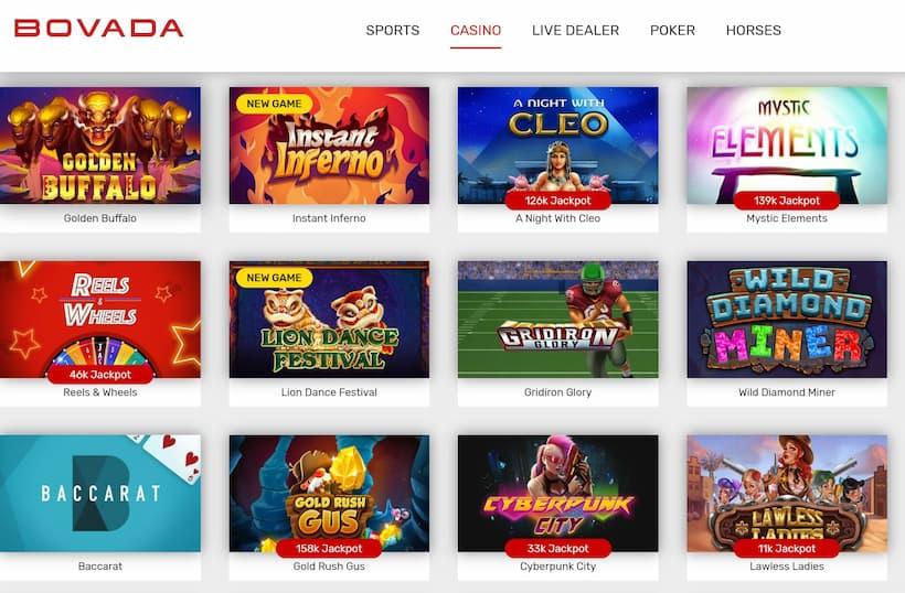 Bovada Slot Games