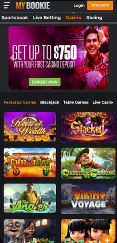 MyBookie Casino Mobile Site