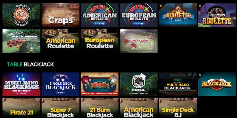 Wild Casino Table Games