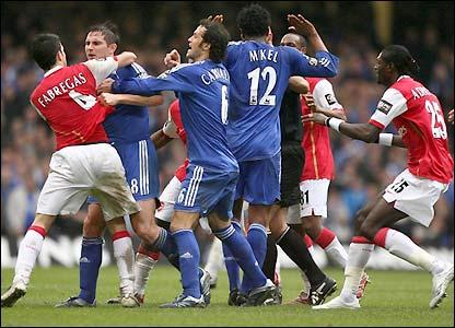 Brawl  - Chelsea vs Arsenal