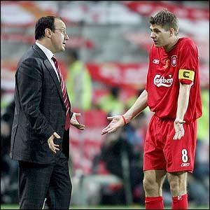 Rafael Benitez and Steven Gerrard - Liverpool