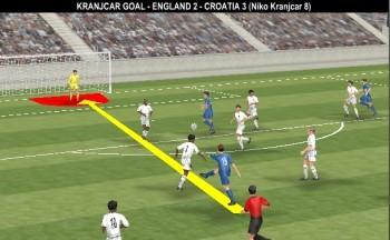 England 0-1 Croatia, 8' Niko Kranjcar