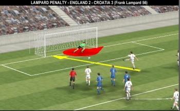 England 1-2 Croatia, 56' Frank Lampard (pen.)