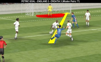 England 2-3 Croatia, 77' Mladen Petric