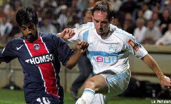 Vikash Dhorasso and Franck Ribery