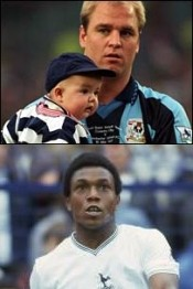 David Busst with his son (top) and Danny Thomas