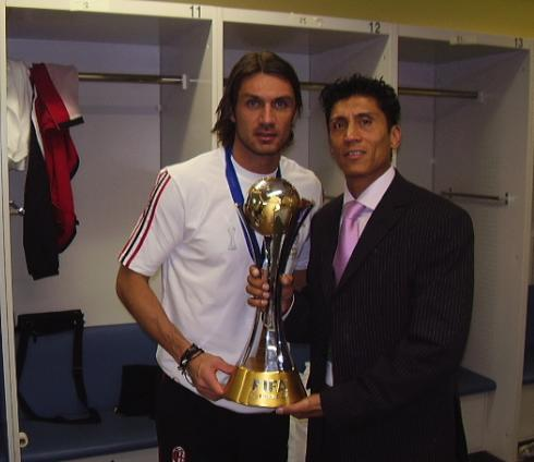 Eddie Marles with Maldini