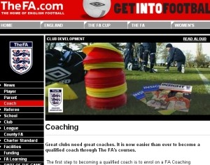 TheFA.com - Coaching webpage