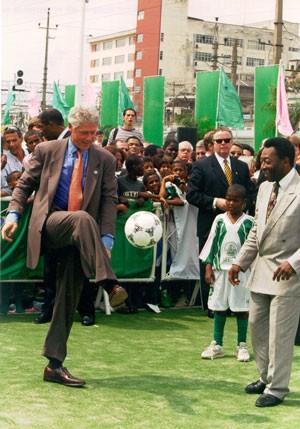 President Bill Clinton and Pele