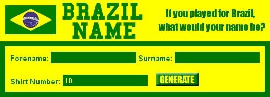 Brazilian Nickname Generator