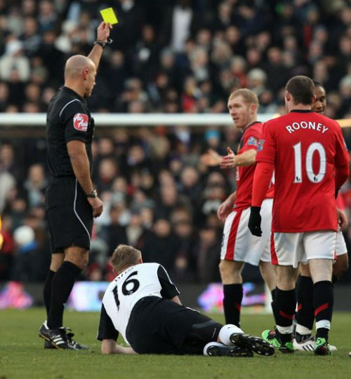 Scholes, who's horrific display was even worst than last season's at Craven Cottage; where he was sent off after 18 minutes!