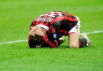 David Beckham tore his Achilles tendon