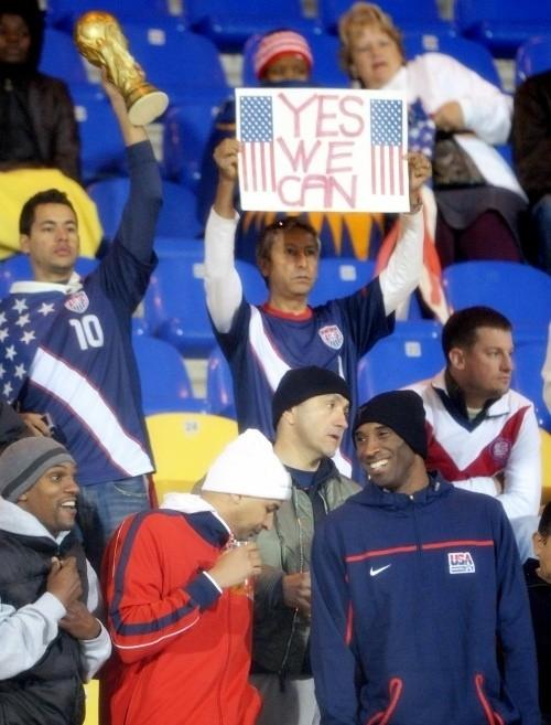 Kobe Bryant before USA v. Ghana in Rustenburg
