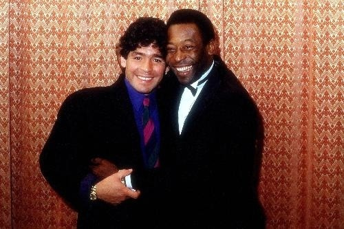 Diego Maradona and Pele' in 1986