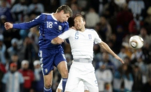 Martin Palermo in action against Greece from Polokwane