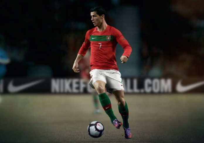 Portugal Home Kit Cristiano Ronaldo World Cup 2010 South Africa
