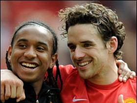 Man Utd's Anderson and Owen Hargreaves