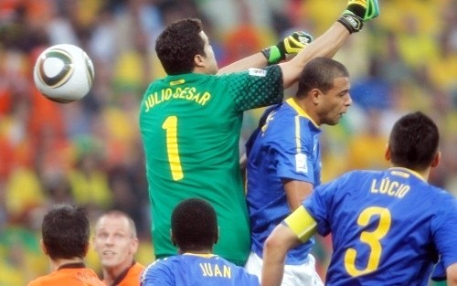 The usually sure-handed Julio Cesar accepted blame for the first goal