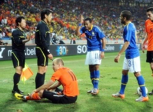 Arjen Robben angered Robinho with his antics