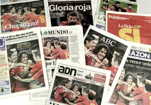 Is the Spanish press creating too much pressure and expectations on the team?