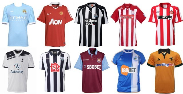 best service 29455 37a09 New 10-11 Premier League Home Kits Overview (M-W) | Sportslens