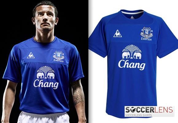 Everton Home Shirt 10/11 Le Coq Sportif