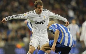 Van der Vaart in action for Real Madrid