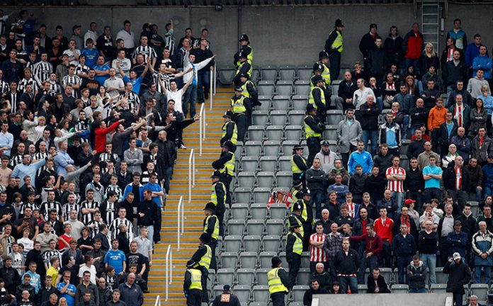 Newcastle and Sunderland fans