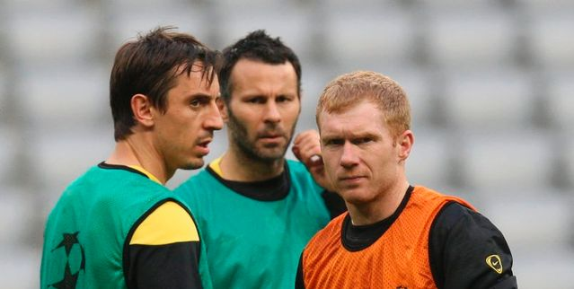 Paul Scholes Ryan Giggs and Gary Neville