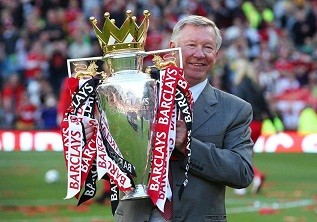 Sir Alex Ferguson with United's 19th title