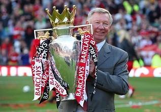 Sir Alex Ferguson with United's 19th title