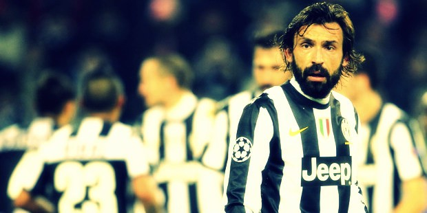 Andrea Pirlo in action.
