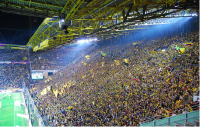 The standing area at Borussia Dortmund