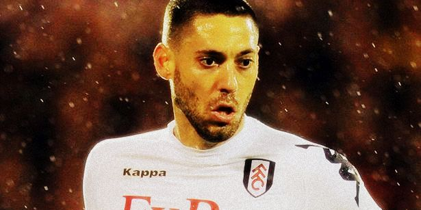 Clint Dempsey playing for Fulham