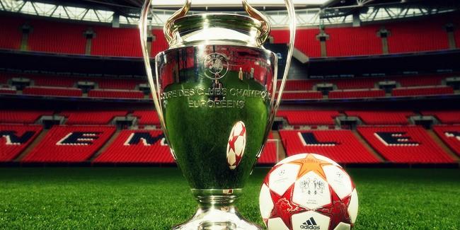Champions League trophy at Wembley