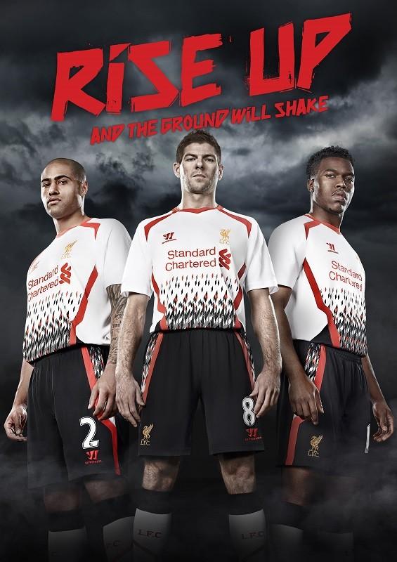 Steven Gerrard and Daniel Sturridge with Glen Johnson