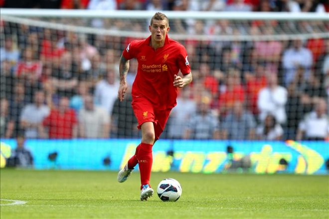 Agger playing for Liverpool in 2013 (Action Images/ Carl Recine)