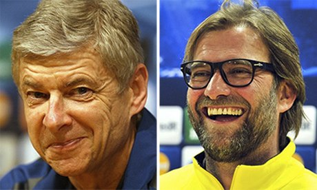 Arsene Wenger and Jurgen Klopp