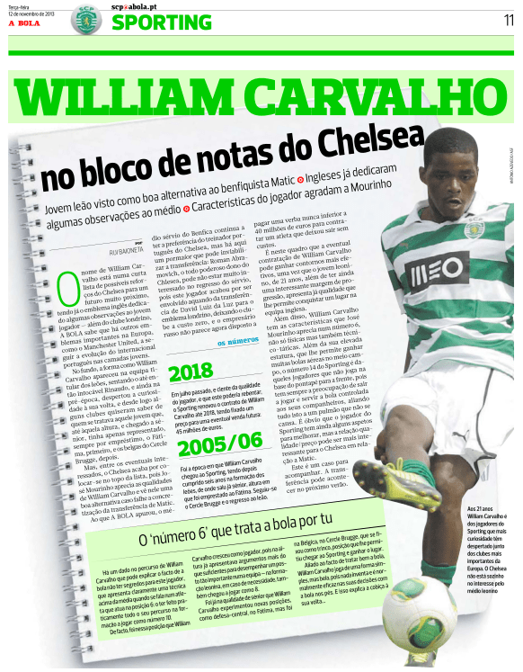 Inside story of Carvalho interest in A Bola today