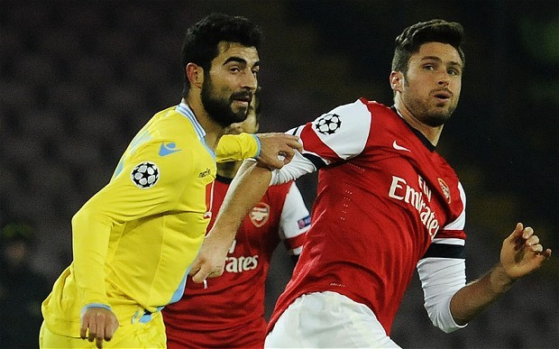 Raul Albiol and Olivier Giroud