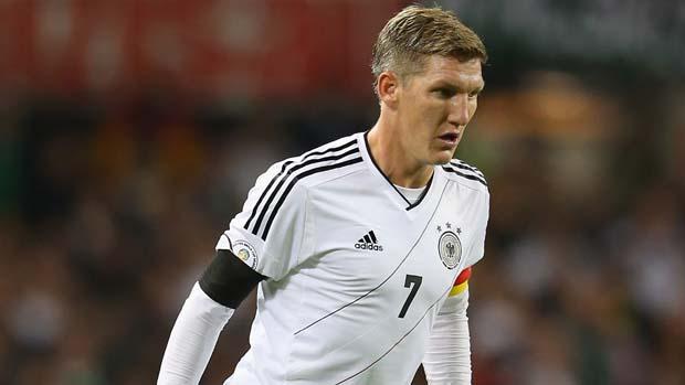 Schweinsteiger had a quiet game against Scotland