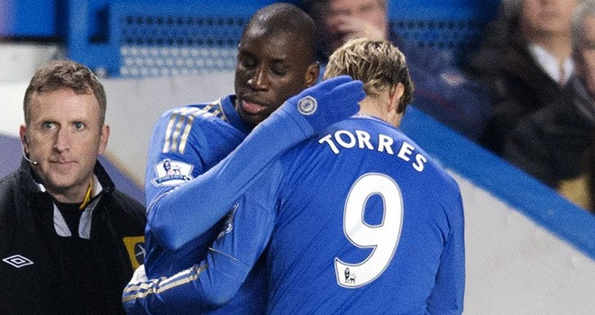Demba Ba and Fernando Torres