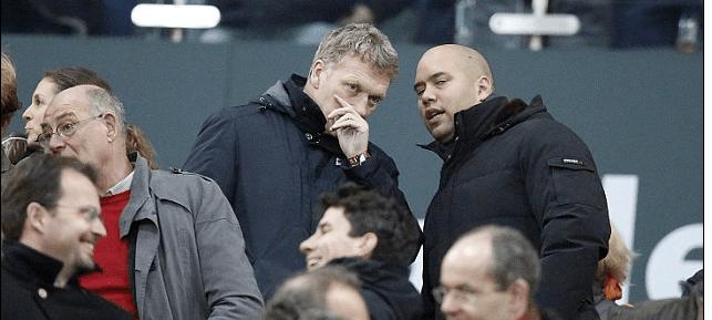 Moyes sat alongside Toni Kroos' agent