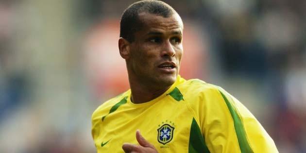 Rivaldo of Brazil in action