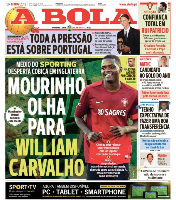 Back in November, A Bola reported Chelsea's interest in Carvalho