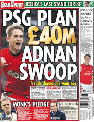 Paris Saint-Germain have already offered Januzaj the chance to leave Old Trafford and were linked with a £40m bid earlier this year